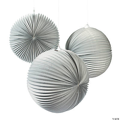 Large Silver Party Lanterns