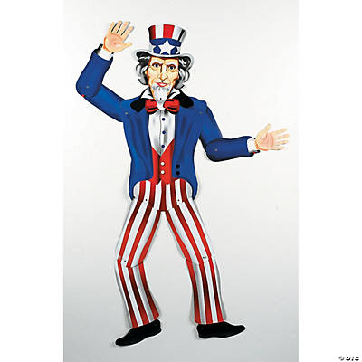 Large Uncle Sam Jointed Cutout - Oriental Trading - Discontinued