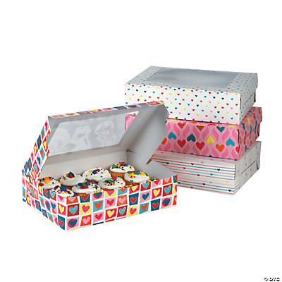 Large Valentine Cupcake Boxes