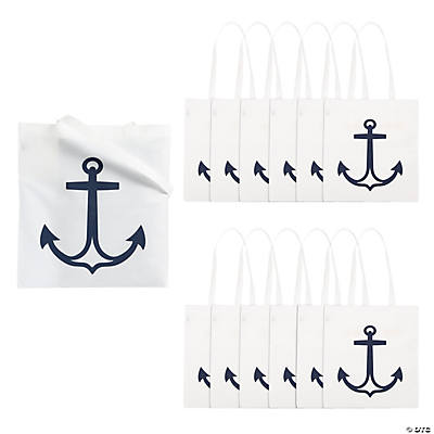 Large White Anchor Tote Bags
