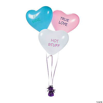 Latex Conversation Heart Balloons in Bulk