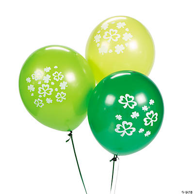Latex Lucky Shamrock Green Balloons