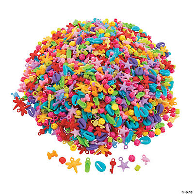 1lb Assorted Plastic Beads
