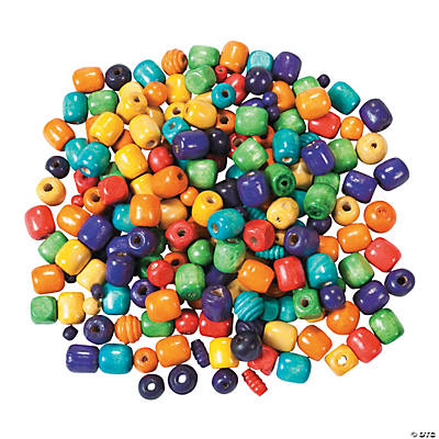 1 Lb. of Painted Wood Beads