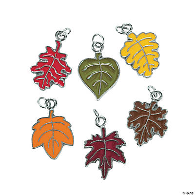 Leaf Enamel Charms