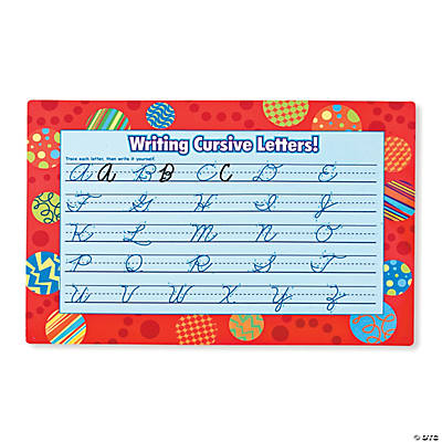 Learning To Write Cursive Mats