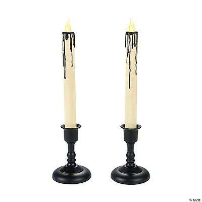 LED Black Drip Candles