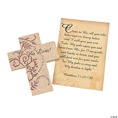 Lenten Prayer Crosses with Card