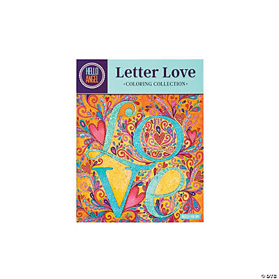 Letter Love Adult Coloring Book
