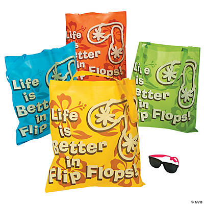 """Life Is Better in Flip Flops"" Tote Bags"