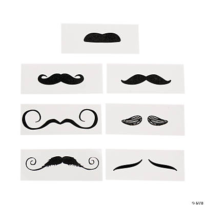 Life-Size Mustache Tattoo Assortment