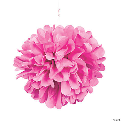 Light Pink Pom-Pom Tissue Decorations
