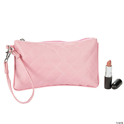 Light Pink Quilted Wristlet Purse