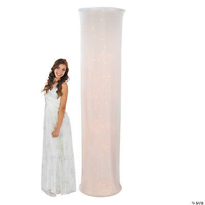 Light-Up White Fabric Column