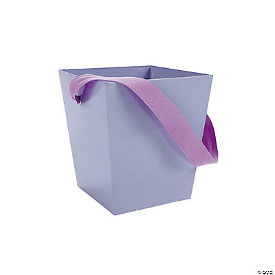 Lilac Buckets with Ribbon Handle