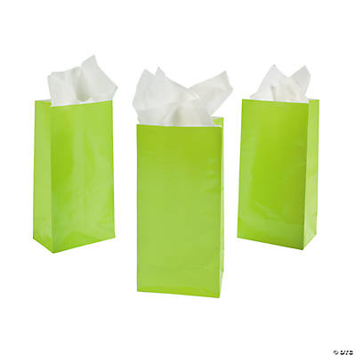 Lime Green Mini Treat Bags
