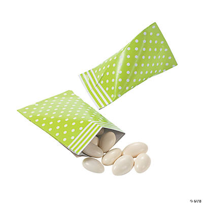 Lime Green Polka Dot Sour Cream Favor Containers