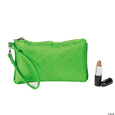 Lime Green Quilted Wristlet Purse