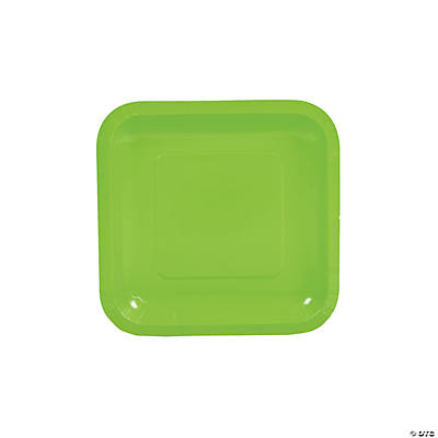 Lime Green Square Dessert Plates