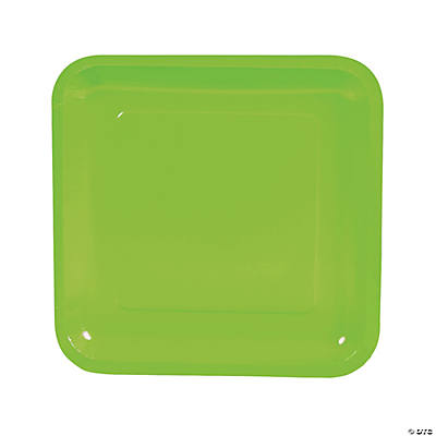 Lime Green Square Dinner Plates
