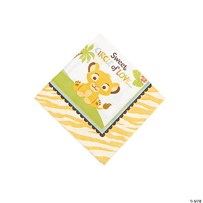 "Lion King ""Sweet Circle Of Life"" Baby Shower Beverage Napkins"