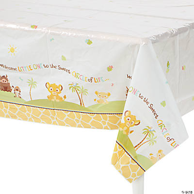"Lion King ""Sweet Circle Of Life"" Baby Shower Table Cover"