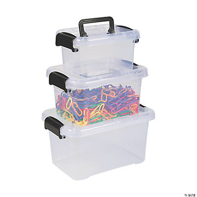 Locking Storage Bins with Lids