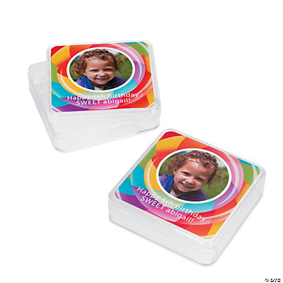 Lollipop Lane Custom Photo Square Favor Containers