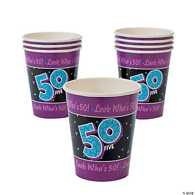 Look Who's 50! Cups