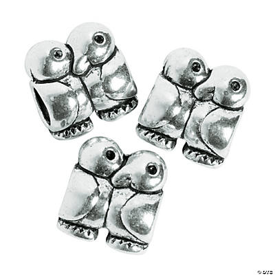 Love Birds Large Hole Beads - 12mm