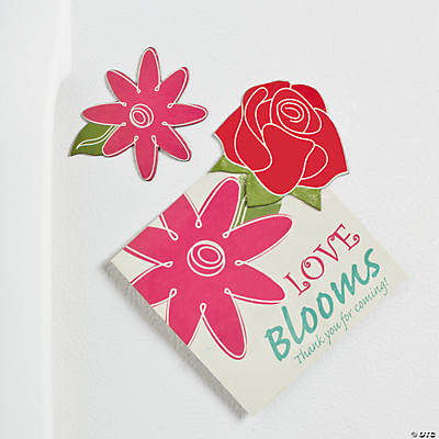 """Love Blooms"" Cards with Flower Magnet"