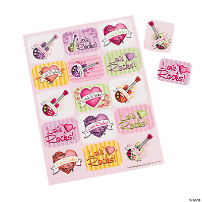 """Love Rocks!"" Stickers"