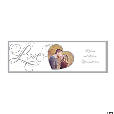 """Love"" Wedding Medium Custom Photo Banner"