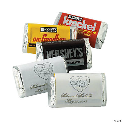 """Love"" Wedding Mini Hershey's® Bar Labels"