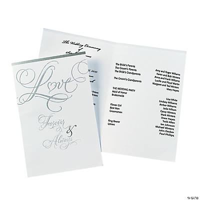 """Love"" Wedding Programs"