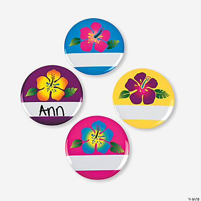Luau Name Buttons
