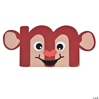 """M Is For Monkey"" Lowercase Letter M Craft Kit"