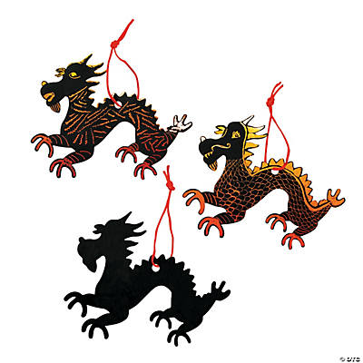 Magic Color Scratch Chinese New Year Dragons