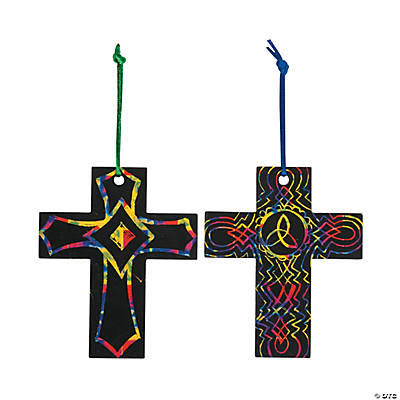 Magic Color Scratch Cross Ornaments
