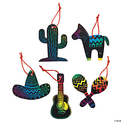 Magic Color Scratch Fiesta Ornaments