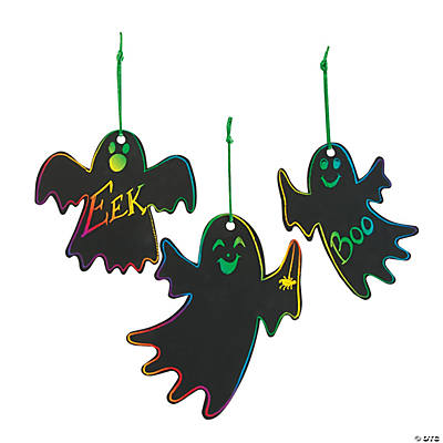 Magic Color Scratch Ghost Ornaments