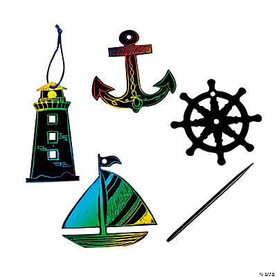 Magic Color Scratch Nautical Shapes