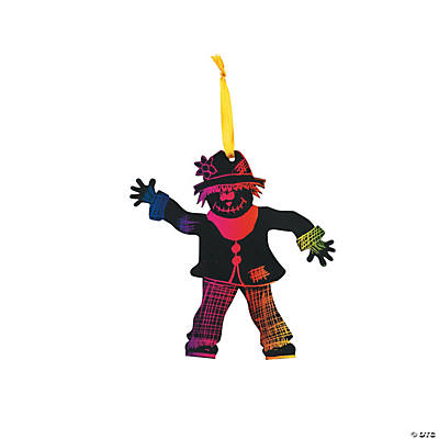 Magic Color Scratch Scarecrow Ornaments
