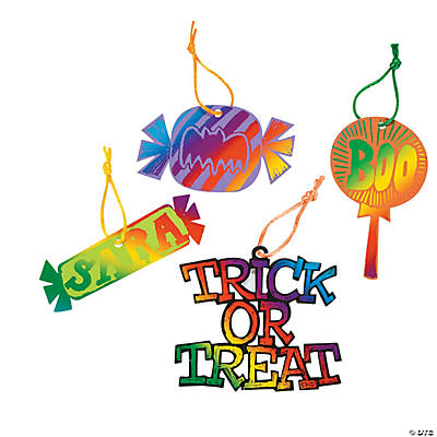 Magic Color Scratch Tricks Or Treats Candy Ornaments
