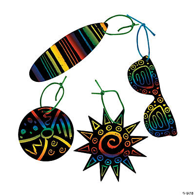 Magic Color Scratch Tropical Ornaments