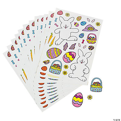Make-An-Easter Bunny Stickers