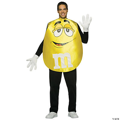 M&M's Yellow Poncho Adult Costume