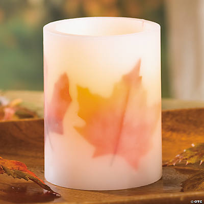 Maple Leaf LED Candle
