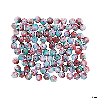 Marbleized Glass Beads - 10mm