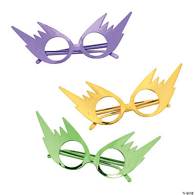 Mardi Gras Cat's Eye Mask Glasses
